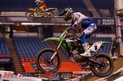 Kawasaki's Bowers Sweeps Sacramento AMSOIL Arenacross
