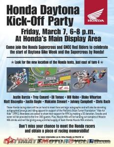 Daytona Bike Week: Honda Kick-Off Party Features SX/GNCC Stars