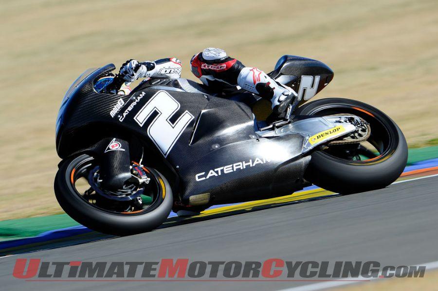 Josh Herrin during Valencia Moto2 testing
