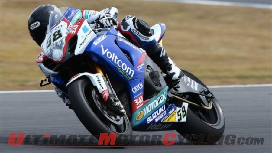 World Superbike Phillip Island Test   Suzuki's Laverty Leads Monday
