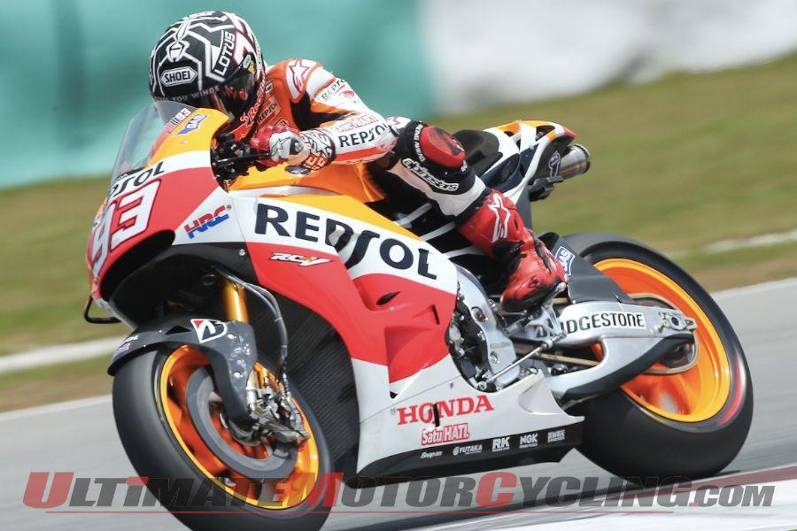 Marquez Dominates Sepang MotoGP Test; Breaks Stoner's Record
