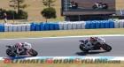 Aprilia Racing's Team Sylvain Guintoli leads Marco Melandri