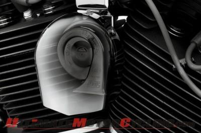 Harley-Davidson Loud Side-Mount Horn for most 1991 - 2013 H-D motorcycles