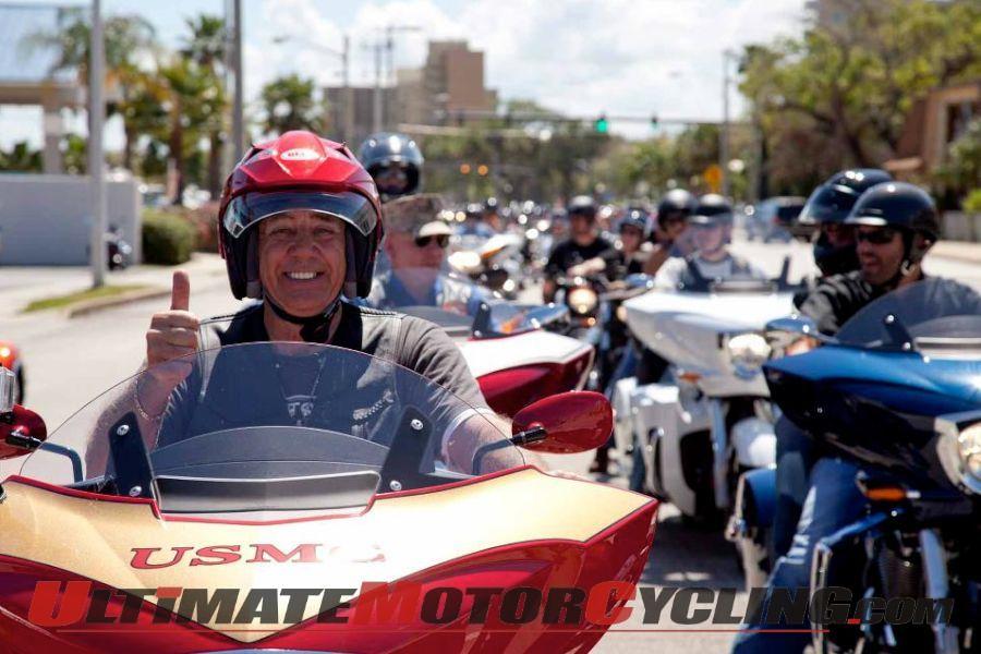 """""""Gunny"""" cruises Daytona Bike Week aboard a Victory Vision Tour"""