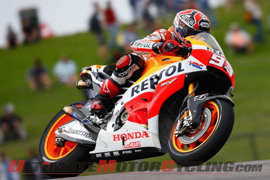 Honda's Marquez Dominates Friday MotoGP Practice at Austin's COTA