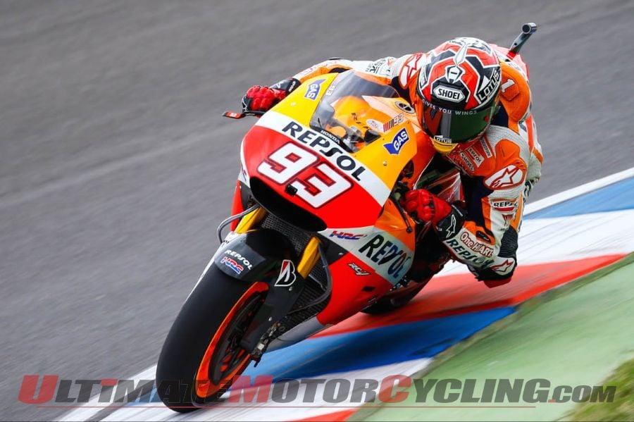 2014 Argentina MotoGP Friday Practice Results | Marquez Quickest