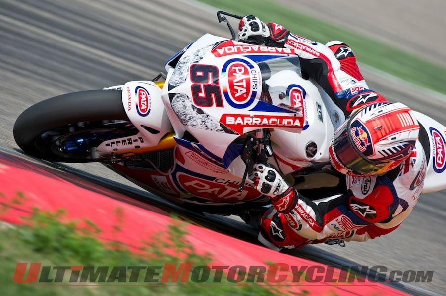 2014 Aragon World Superbike   Honda's Rea Leads Friday Practice
