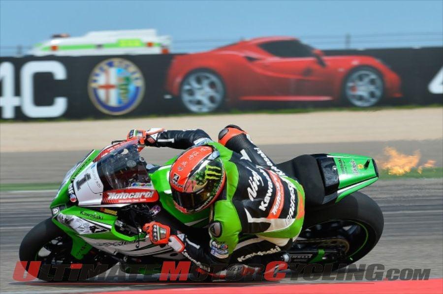 2014 Aragon Superbike Superpole Results – Kawasaki's Sykes on Pole