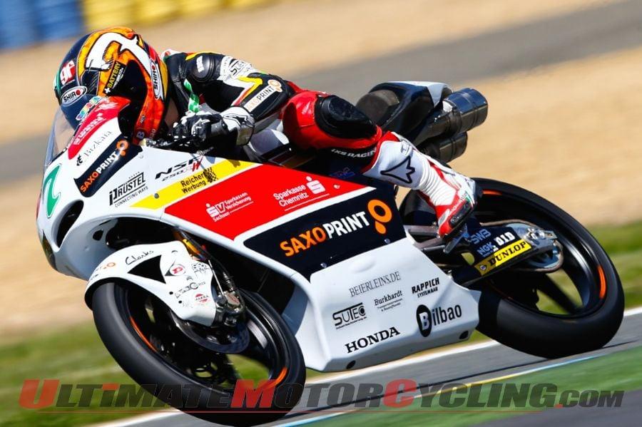 2014 Le Mans Moto3 Qualifying Results | Vazquez on Pole