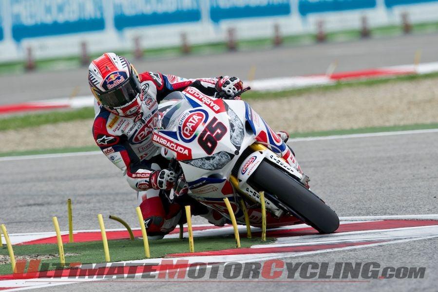 Honda's Rea Leads Official Imola World Superbike Test