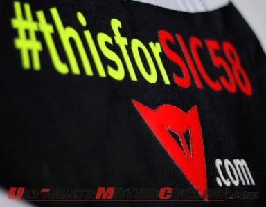 Valentino Rossi & Dainese Remember Marco Simoncelli at Mugello