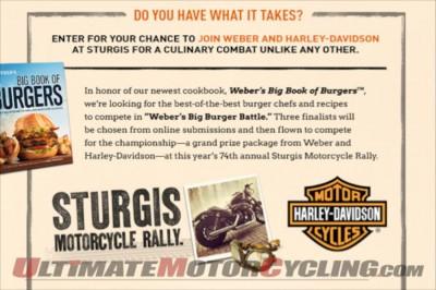 Harley-Davidson and Weber Grills Team Up for Big Burger Battle