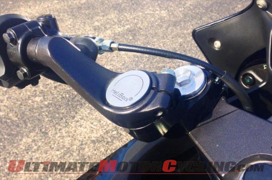 HeliBars Honda CBR500R Handlebar Risers Produce Naked-Bike Comfort