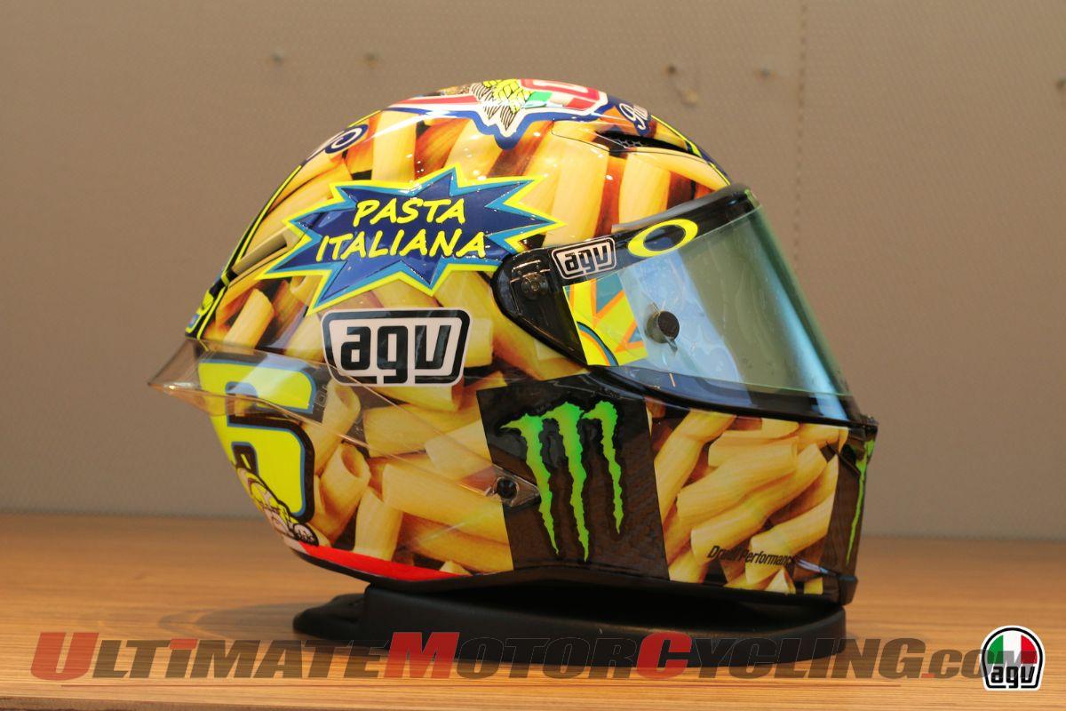 Valentino Rossi 'Di Vale' Pasta Helmet from Mugello MotoGP Photos