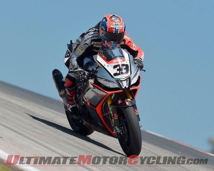 Friday Portimao Superbike Practice | Aprilia's Melandri Quickest Overall
