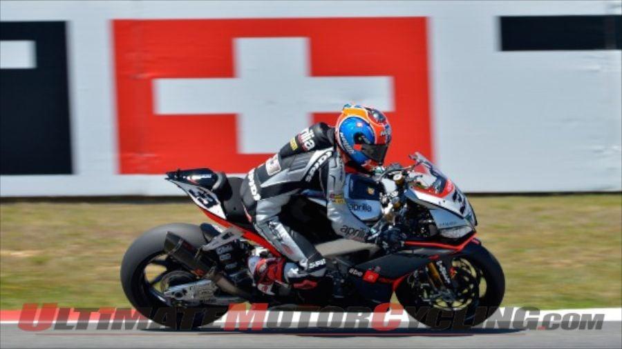 2014 Portimao Superbike FP1 Results | Aprilia's Melandri Quickest