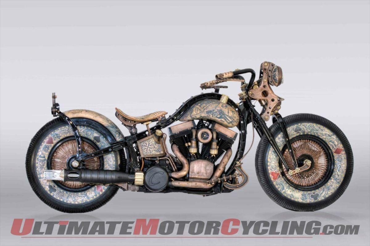 Recidivist Tattooed Custom Motorcycle Debuts In London