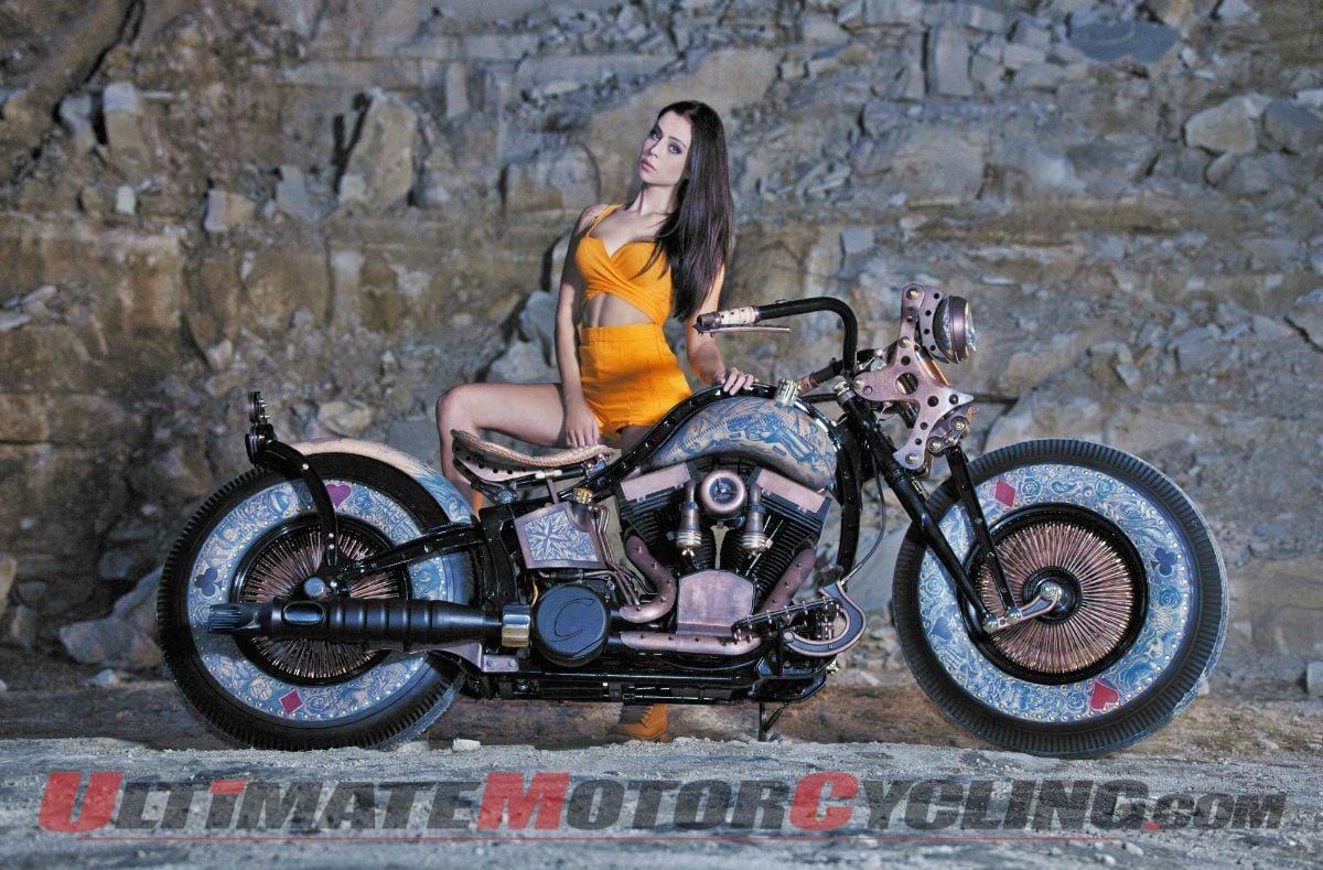 'Recidivist' Tattooed Custom Motorcycle Debuts in London