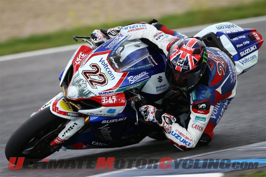 Suzuki's Alex Lowes at Jerez World Superbike Test
