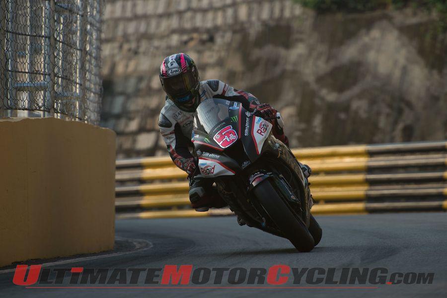 Kawasaki's Staurt Easton, winner of 2014 Macau Motorcycle GP