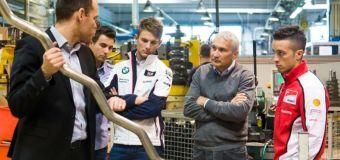 Ducati's Dovizioso & BMW's Wittmann: Surprise Visit to Akrapovic