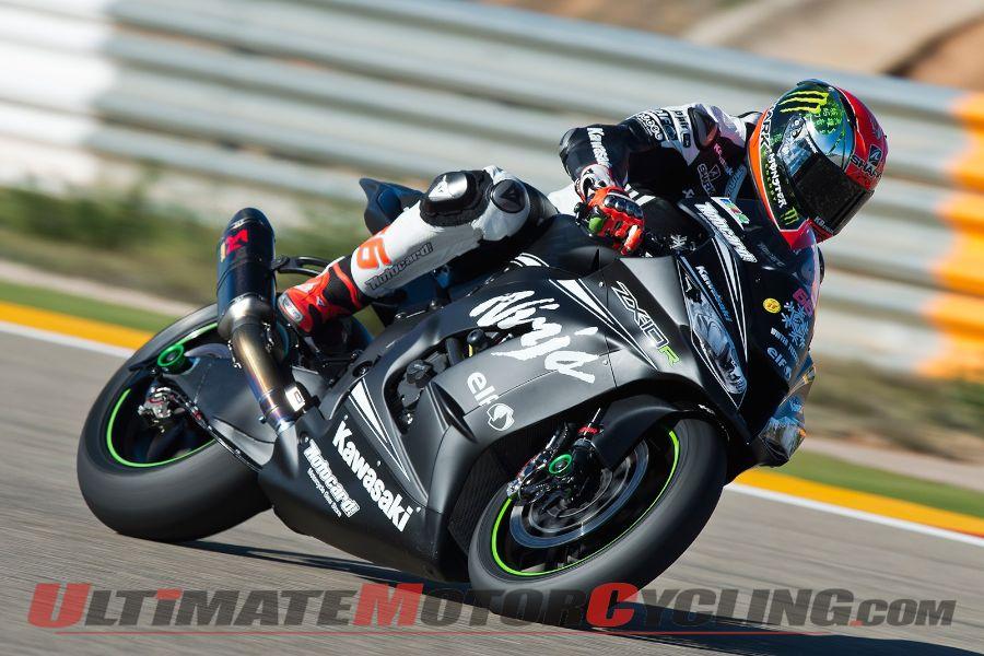 Kawasaki's Tom Sykes at Jerez Testing