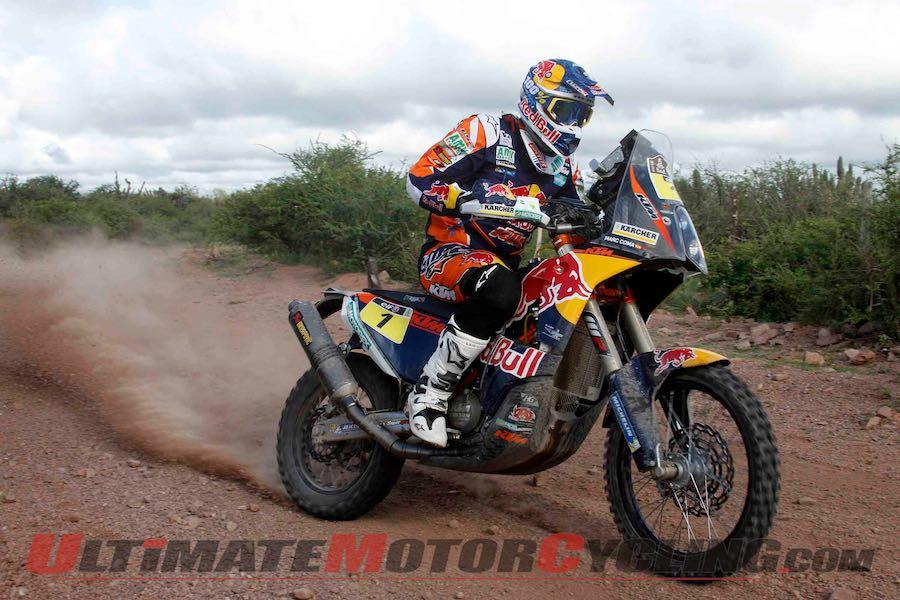KTM's Marc Coma, stage 12, 2015 Dakar Rally