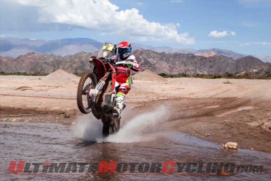 Honda's Joan Barreda Bort in stage four, Dakar Rally 2015