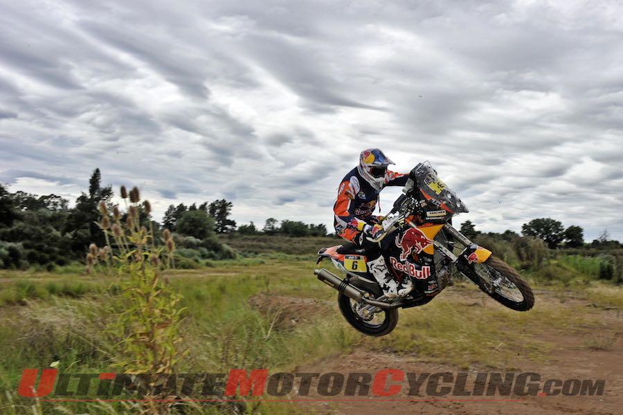 KTM's Sam Sunderland at Stage One Dakar Rally 2015