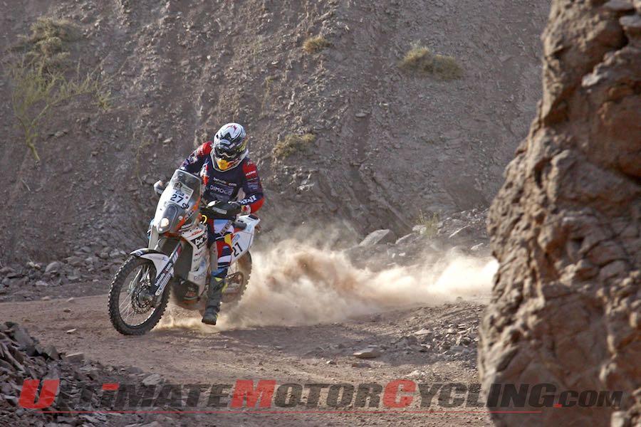 KTM's Matthias Walkner, stage three, 2015 Dakar Rally
