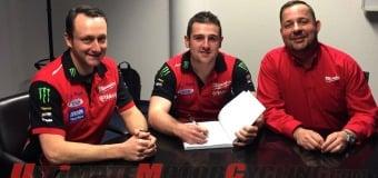 2015 IOM TT | Michael Dunlop Signs with Milwaukee Yamaha