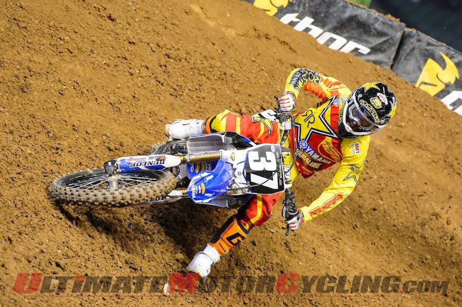 Yamaha's Cooper Webb at Phoenix SX