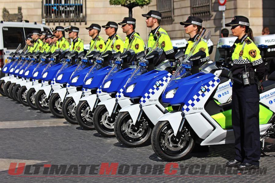 BMW C evolution Scooters Delivered to Barcelona Police