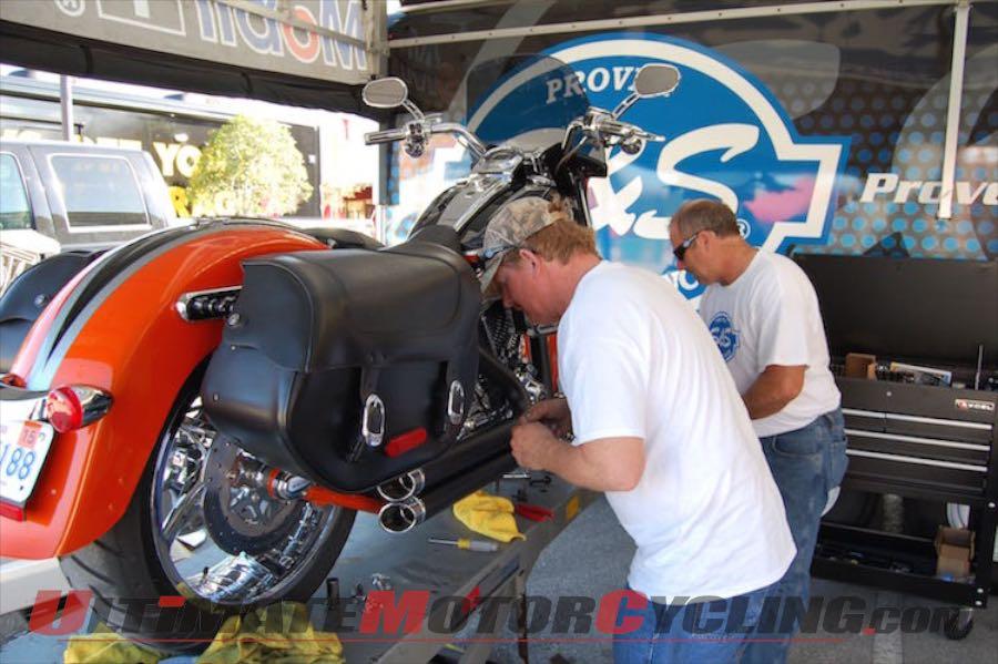 Daytona Bike Week Riders Mob S&S Cycle Display