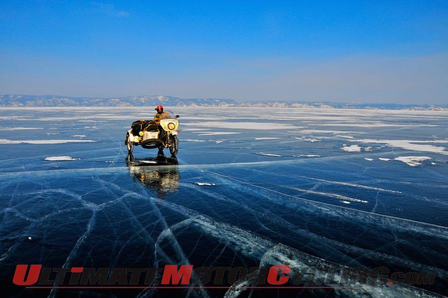 Ural Motorcycles Ice Run 2015 Underway
