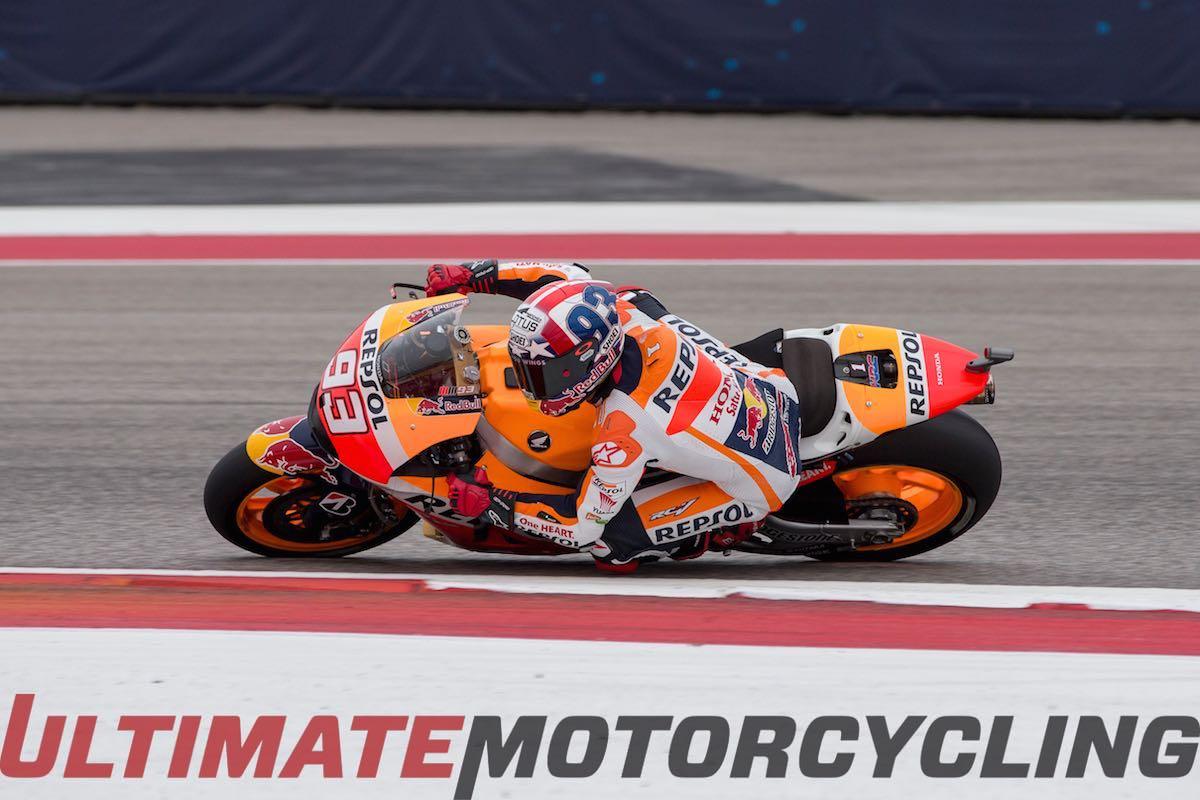 Temp Changes Challenge Bridgestone Choices at COTA MotoGP Marc Marquez