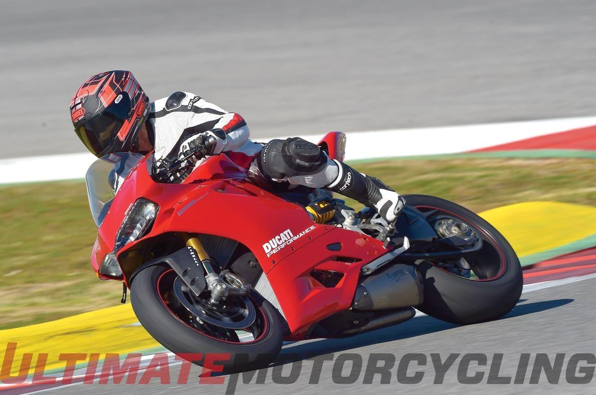 2015 Ducati 1299 Panigale on race track