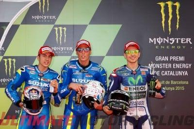 Suzuki's Espargaro Earns Record Pole at Catalunya MotoGP Qualifying front row