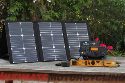 Moto DX Safari – Ham Radio Camping Via Honda Gold Wing solar charge