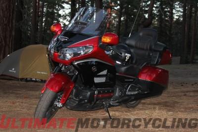 Moto DX Safari – Ham Radio Camping Via Honda Gold Wing left side