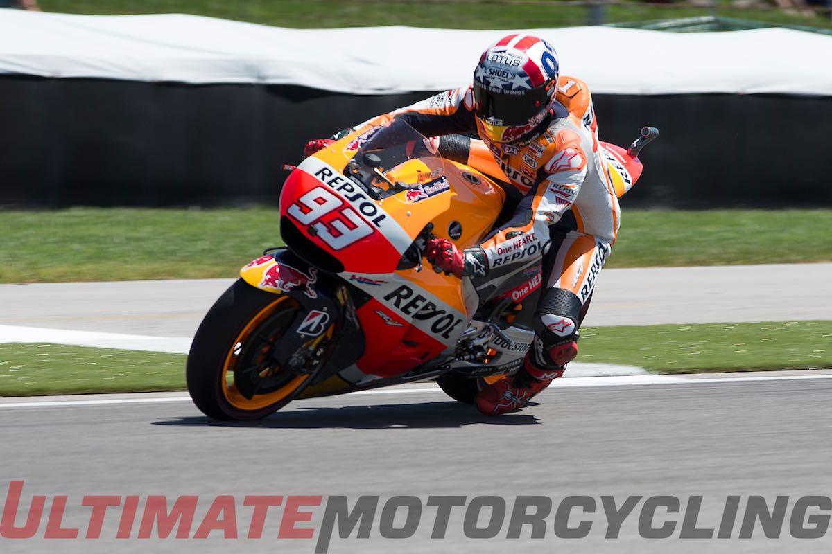 2015 Indy MotoGP Friday Practice - Lorenzo Edges Marquez