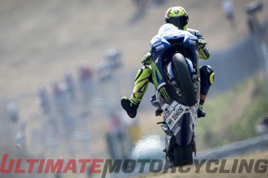 Valentino Rossi Crashes at Brno - 1st of 2015 MotoGP (Video)