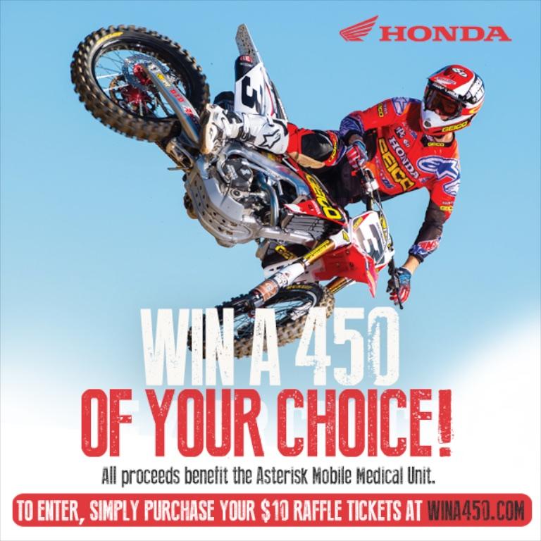 AMA Motocross Wina450.com Raffle Ends at Ironman