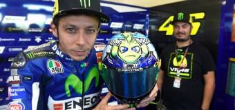 Valentino Rossi Helmet – Shark Attack at Misano MotoGP!