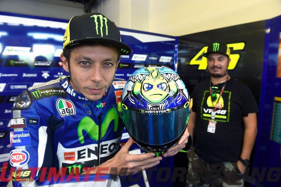 Valentino Rossi Helmets at Misano