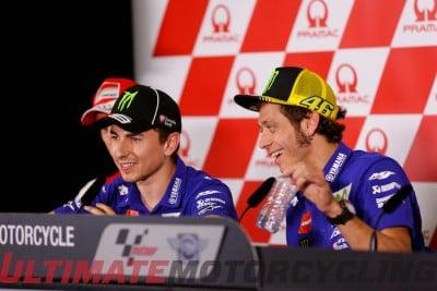 Jorge Lorenzo and Valentino Rossi at Phillip Island MotoGP