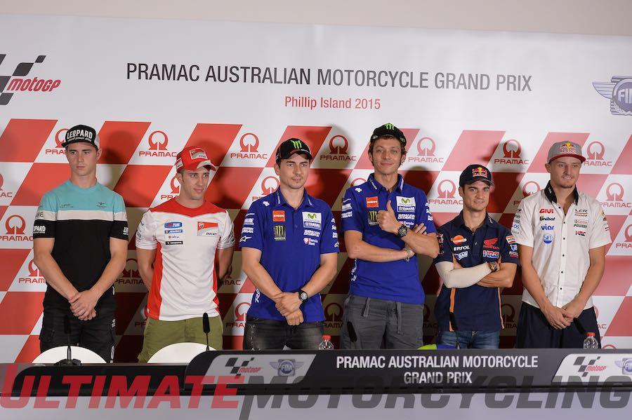 Rossi & Lorenzo Highlight Australia MotoGP Conference
