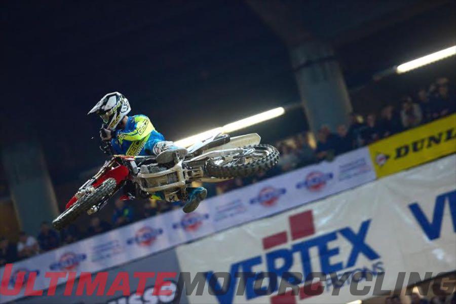 Honda's Bogle Claims Podium at Genova Supercross