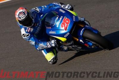 Suzuki GSX-RR Maverick Vinales at Valencia MotoGP Test