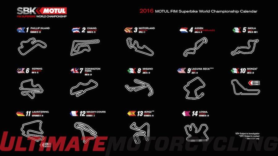 World Superbike Schedule   2016 Calendar